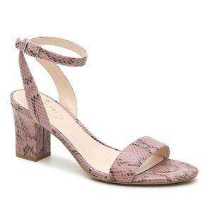 Bandolino Naria 2 Ankle Strap Heel Snakeskin Pink
